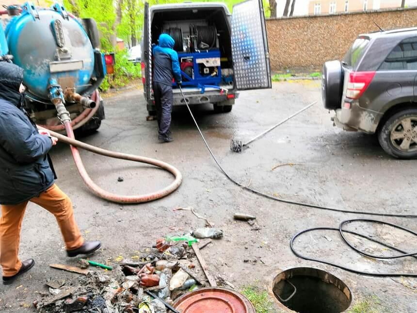 Услуги каналопромывочной машины, цена Новосибирск